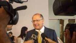 Geraldo Alckmin diz ser cedo para falar sobre seu vice na corrida à Presidência do Brasil - 1:57