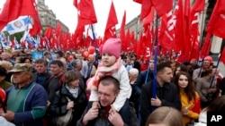 Прихильники соціал-демократів на мітингу у Києві