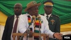 UMongameli Emmerson Mnangagwa.