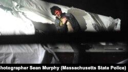 Ảnh lúc Tsarnaev ra khỏi chiếc thuyền