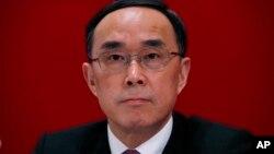 中国电信公司董事长兼中共党组书记常小兵2013年在香港的记者会上