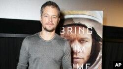 """Matt Damon es la estrella de """"Misión Rescate"""" o """"The Martian""""."""
