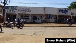 Des boutiques fermées à Nyawera, Bukavu, Sud-Kivu, 1er novembre 2017. (VOA/Ernest Muhero)