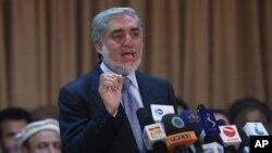 Abdulá Abdulá dijo tener muchas pruebas de que no se llevó a cabo una elección legítima.