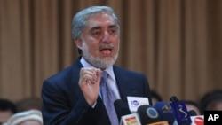 Ứng cử viên Tổng Thống Afghanistan Abdullah Abdullah.