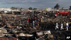 墨西哥煙花市場爆炸現場