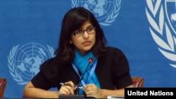 راوینا شمدسانی سخنگوی دفتر حقوق بشر سازمان ملل متحد - آرشیو