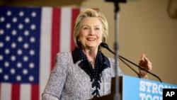 民主党推定候选人希拉里
