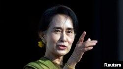 FILE - Aung San Suu Kyi