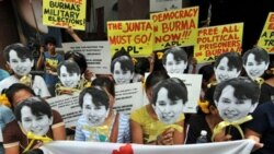 آنگ سان سو چی ، رهبر آزادیواه آزاد شد