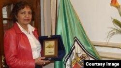 President of Cairo University presented Golden Dome award to Dr. Sultana Nurun Nahar