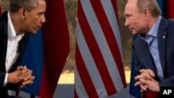 Барак Обама и Владимир Путин (фото из архива)