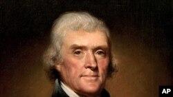 ທ່ານ Thomas Jefferson ປະທານາທິບໍດີຄົນທີ່ສີ່ຂອງສະຫະລັດ ແລະເປັນຜູ້ຮ່າງຄໍາປະກາດ ເປັນເອກະລາດ ຈາກການປົກຄອງຂອງອັງກິດ.