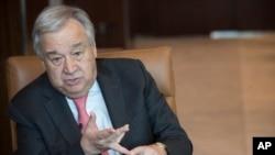 Sekjen PBB Antonio Guterres memberikan keterangan di markas besar PBB di New York, 7 Mei 2019. (Foto: dok).