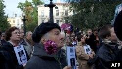 Митинг памяти Анны Политковской