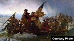 Эмануэль Готлиб Лойце. «Вашингтон переправляется через Делавэр». 1851 год. Courtesy The Metropolitan Museum of Art