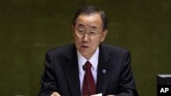 منشی عمومی ملل متحد اعراب را ترغیب کرد تا از عباس در روند صلح حمایت نمایند