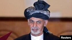 Ashraf Ghani Ahmadzai na sua investidura a 29 de Setembro em Cabul