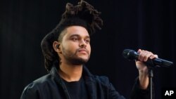 "Abel Tesfaye, known by his stage name the Weeknd, performs on NBC's ""Today"" show on May 7, 2015, in New York."