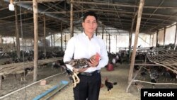 Agriculture entrepreneur Nak Ny was arrested on December 11, 2020, after posting sarcastic comments on social media about Prime Minister Hun Sen's remarks on declaring a state of emergency. (Facebook/Nak Ny)