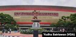Suasana Stadion Manahan Solo, Minggu, 9 Februari 2020.(Foto: Yudha Satriawan)