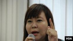 香港家長聯會會長李偲嫣反對佔中議題進入校園