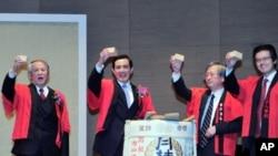 马英九总统6日晚参加在台日人庆祝新年晚会