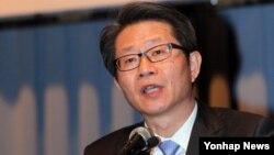 류길재 통일부 장관이 20일 대한상공회의소에서 열린 북한인권 국제세미나에서 인사말을 하고 있다.