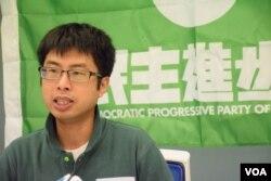 被否決參選資格的香港民進黨楊繼昌。(美國之音湯惠芸攝)