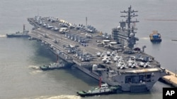 US Aircraft carrier USS Ronald Reagan (File)