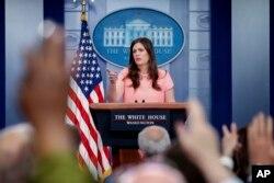 Vocera adjunta de la Casa Blanca, Sarah Huckabee.