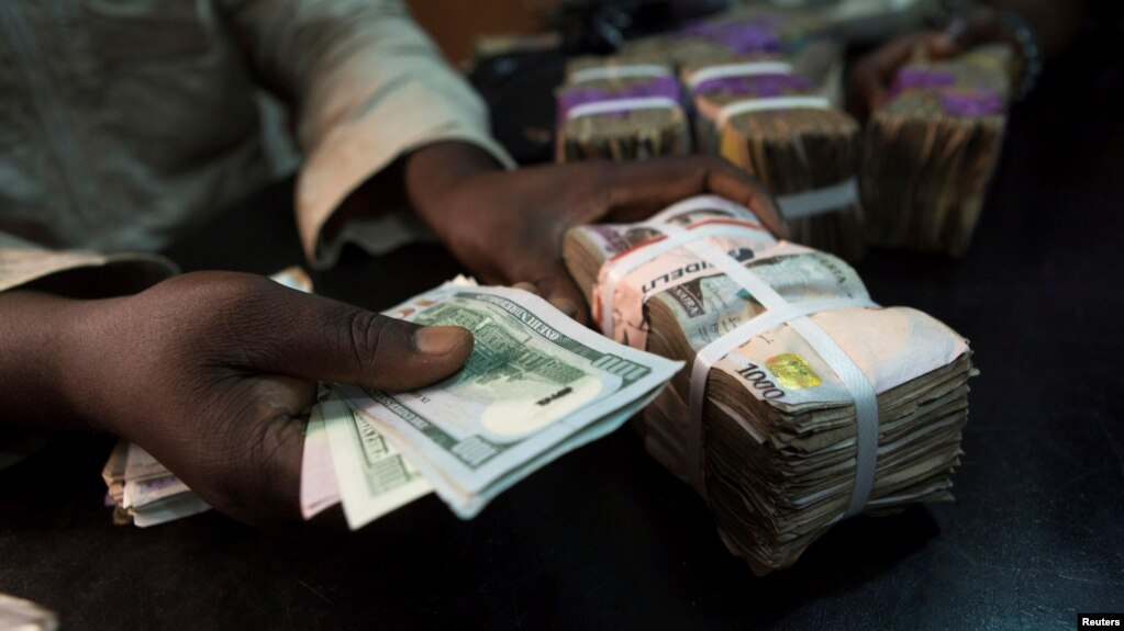 Naira At Currency Exchange In Lagos Nigeria Lawmakers Worry About Gap Between Official Black Market