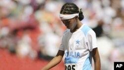 La joven Samia Yusuf Omar debutó en los Juegos Olímpicos de Pekín 2008, con sólo 17 años. A sus 21, no logró optar a una plaza para Londres 2012.