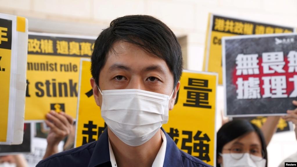 香港民主党前立法会议员许智峯(路透社资料图片)(photo:VOA)