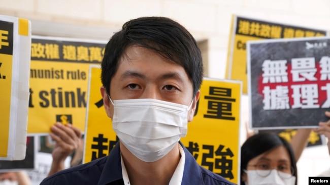 香港民主党前立法会议员许智峯(路透社资料图片)