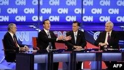 Bốn ứng cử viên tổng thống của đảng Cộng hòa tham gia cuộc tranh luận trên truyền hình tại Arizona, ngày 22/2/2012