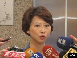 台湾执政党民进党立委陈亭妃(美国之音张永泰拍摄)
