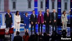 美民主黨總統參選人 就外交及氣候議題辯論