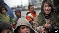 아프가니스탄 난민 아이들 (자료사진).