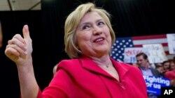 Le candidat démocrate Hillary Clinton, à l'Université de Transylvanie à Lexington, Ky, le 16 mai 2016 .