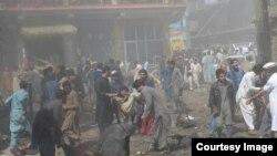 پس از انفجار بمب در پرچِنار