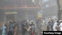 Attentat à Parachinar, Pakistan, le 31 mars 2017.
