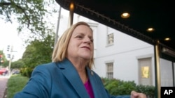 Rep. Ileana Ros-Lehtinen, R-Fla., arrives for a closed-door GOP meeting on immigration, on Capitol Hill in Washington, June 13, 2018.