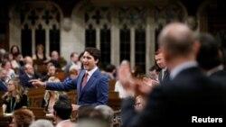 Le premier ministre du Canada, Justin Trudeau, au Parlement canadien à Ottawa, Ontario, Canada, le 9 mai 2018.