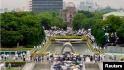 Ceremonija obeležavanja 69. godišnjice prve upotrebe atomske bombe u vojnom napadu, u Hirošimi, 6. avgusta 2014.