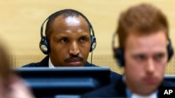 Bosco Ntaganda, a Congo militia leader known as The Terminator, waits for the start of his trial at the International Criminal Court in The Hague, Netherlands, Sept. 2, 2015.