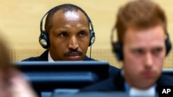 Former Congolese rebel leader Bosco Ntaganda in The Hague, Netherlands, Sept. 2, 2015.
