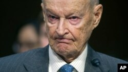 Former U.S. National Security Advisor Zbigniew Brzezinski testifies on Capitol Hill in Washington, Jan. 21, 2015.