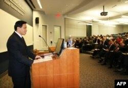 张业遂在美国外交政策研讨会上演讲(2012年5月10日)