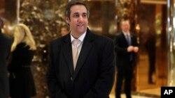Ông Michael Cohen, luật sư riêng của Tổng thống Donald đến Trump Tower, New York, ngày 16/12/2016.